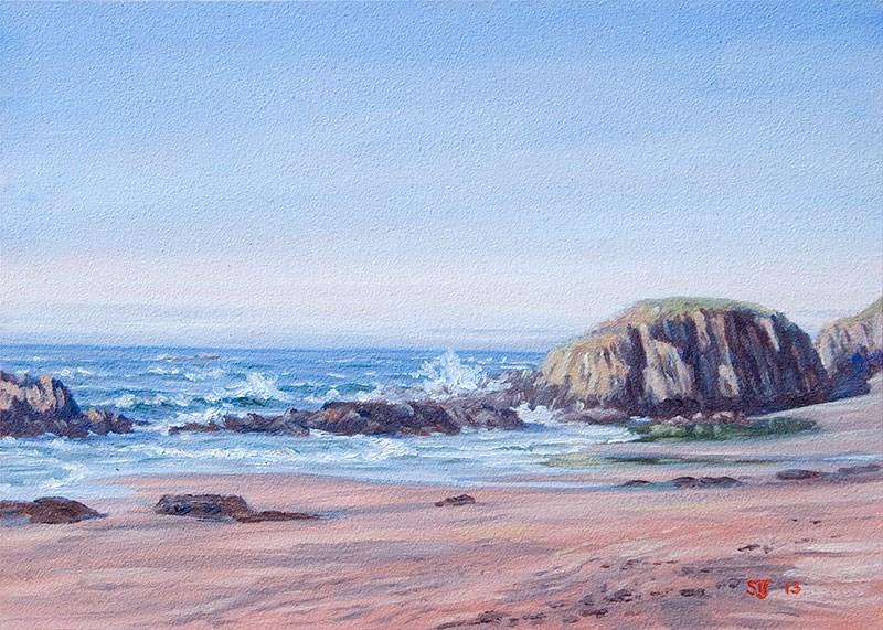 """C1529 November Afternoon at Seal Rock"" original fine art by Steven Thor Johanneson"