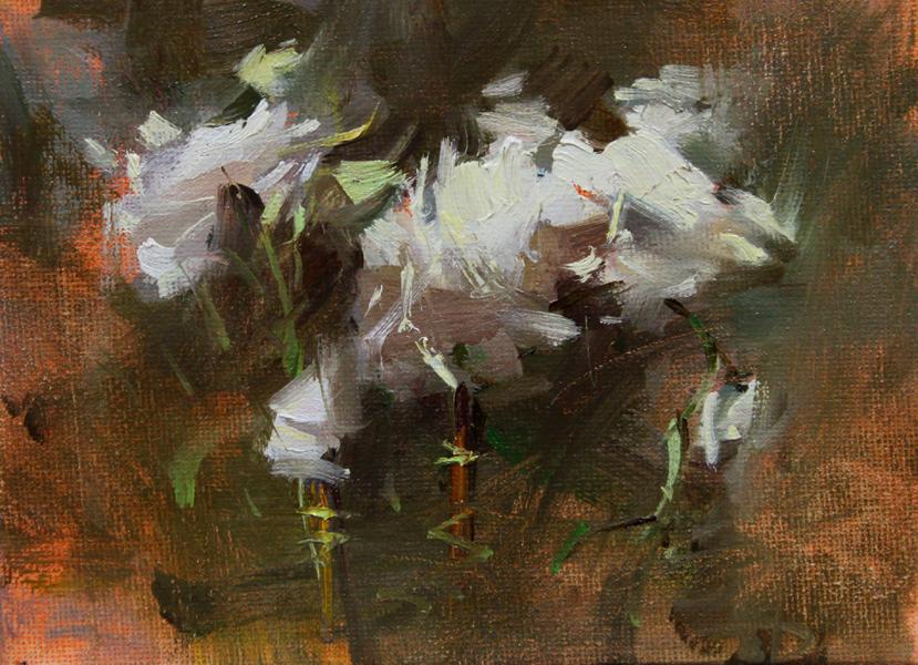 """""""Flowers in the pot"""" original fine art by Fongwei Liu"""