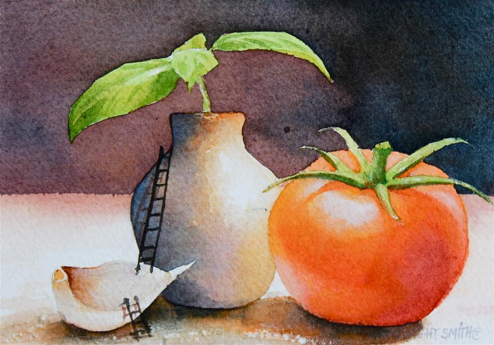 """ MARINARA "" original fine art by Dwight Smith"