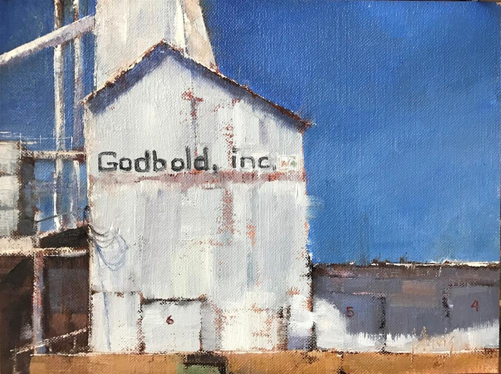 """Workshop Announcement and The Feed Mill, Marfa, study"" original fine art by Julie Davis"