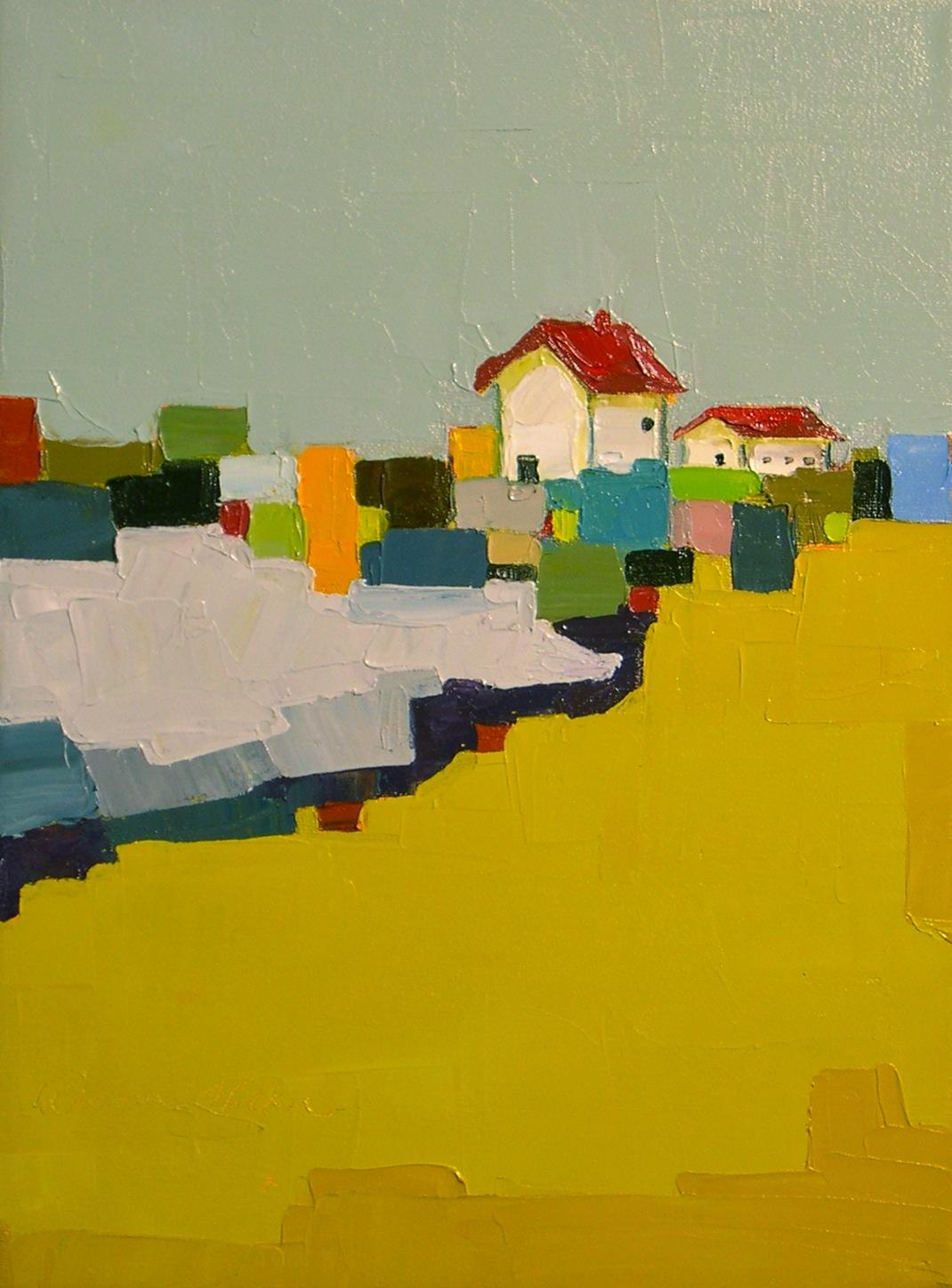 """Farm Quilt II"" original fine art by Donna Walker"