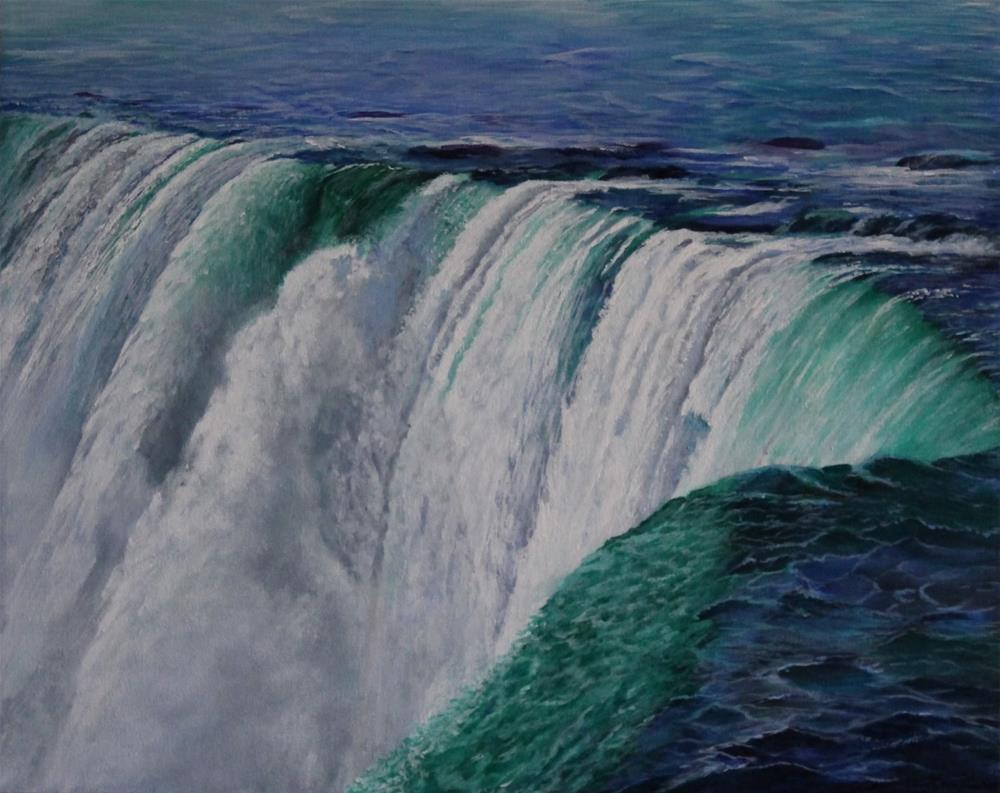 """Niagara Falls......The Horseshoe"" original fine art by Bob Williams"
