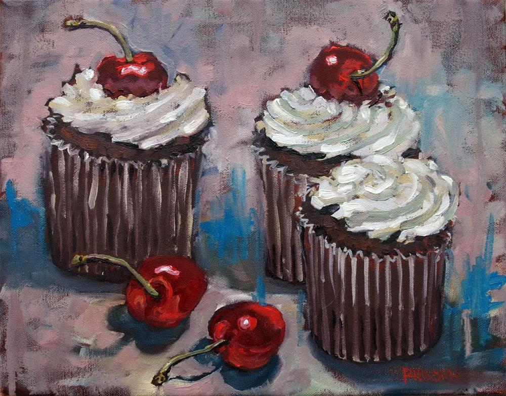 """Deficit Cupcakes"" original fine art by Rick Nilson"