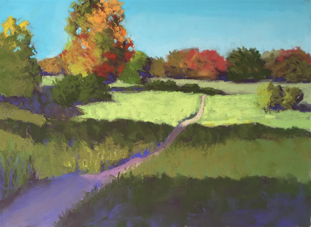 """Fall Trail"" original fine art by Sandi Miller"