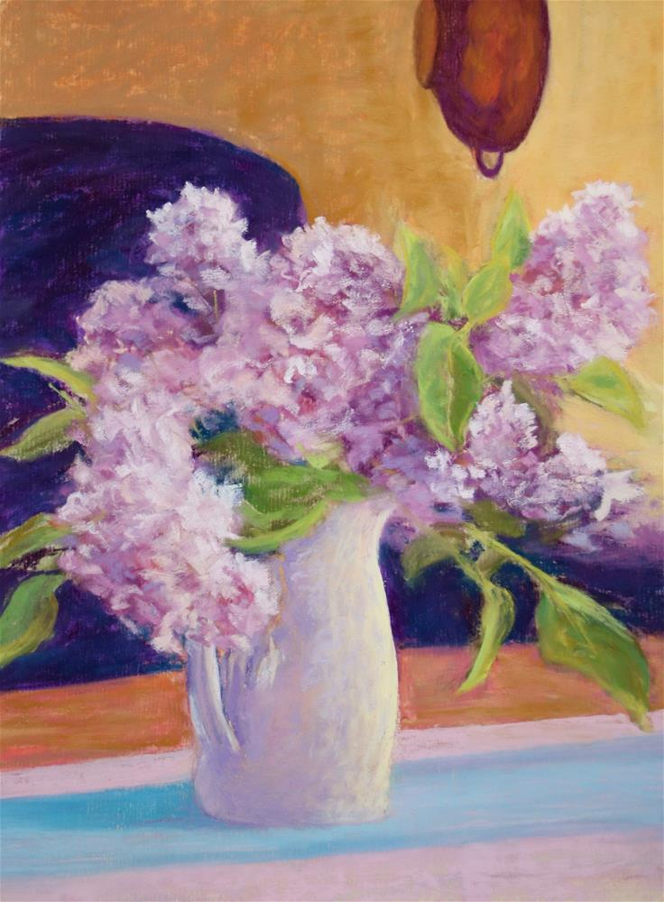 """Lissome Lilac"" original fine art by Sharon Lewis"