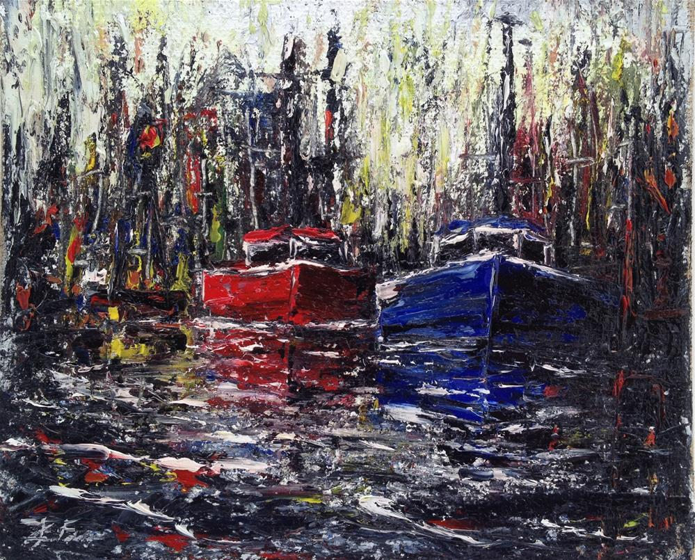 """Dark Harbor"" original fine art by Ken Fraser"