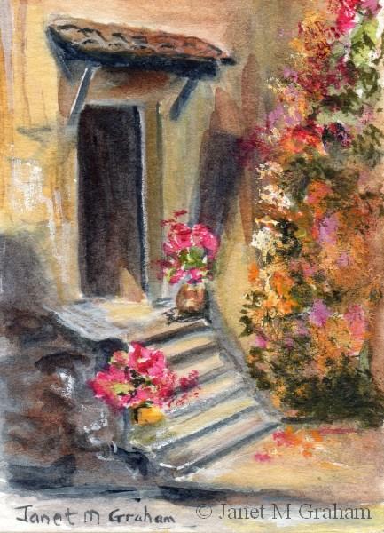 """""""Doorway ACEO"""" original fine art by Janet Graham"""