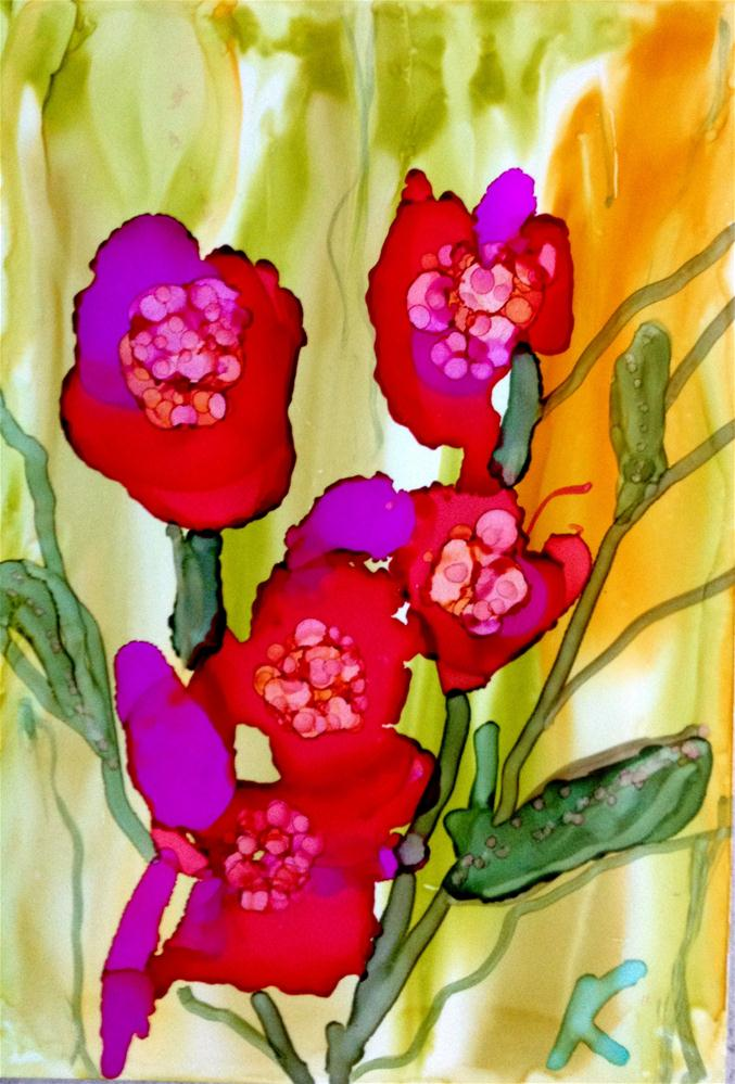 """April Flowers"" original fine art by Kristen Dukat"