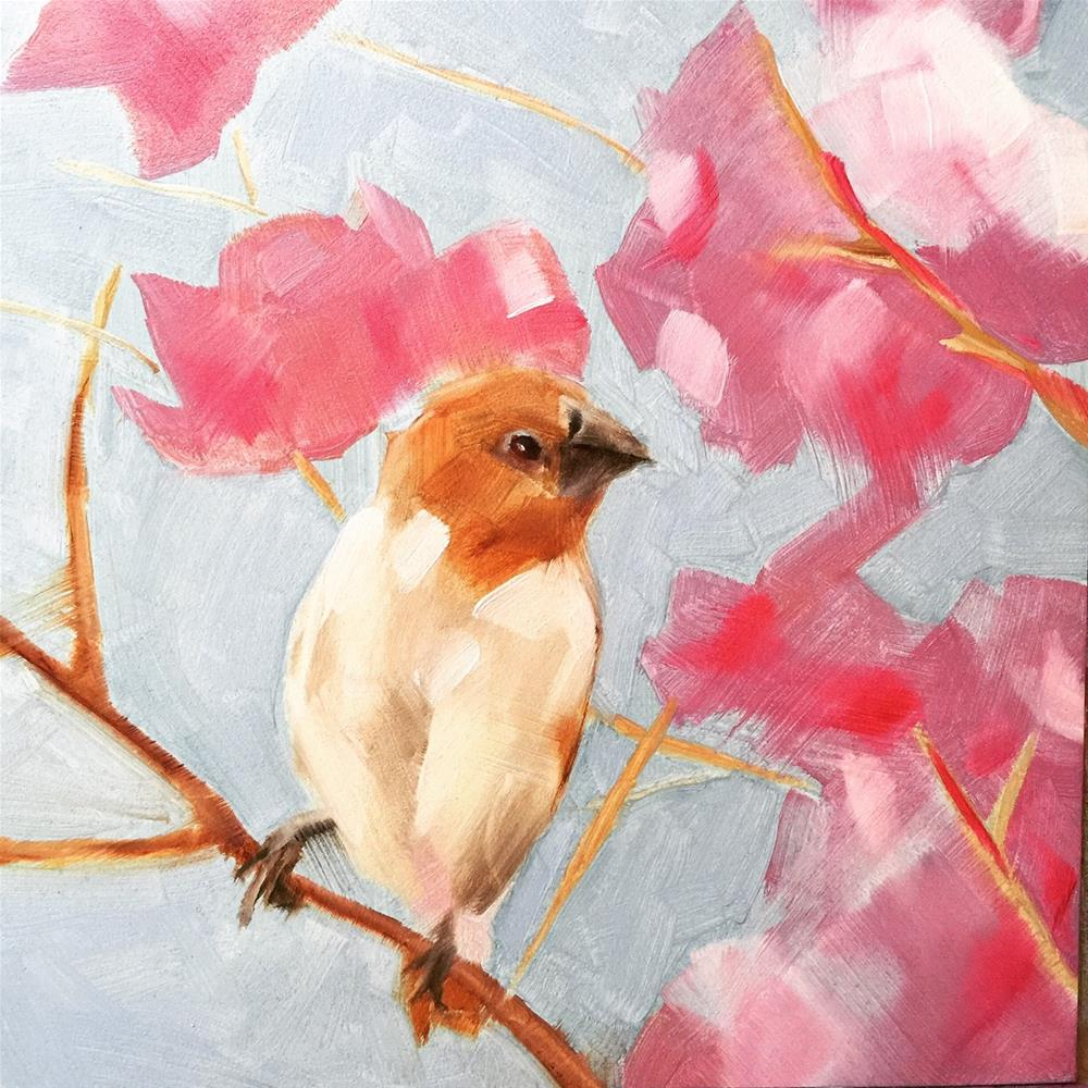 """245 Jenelle Bird"" original fine art by Jenny Doh"