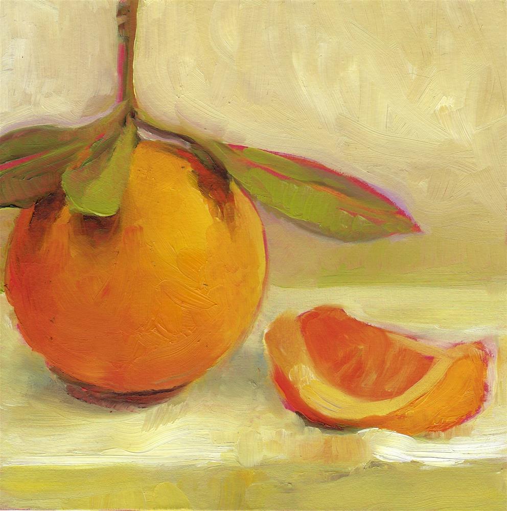 """""""Orange from the Garden"""" original fine art by Anne Ducrot"""