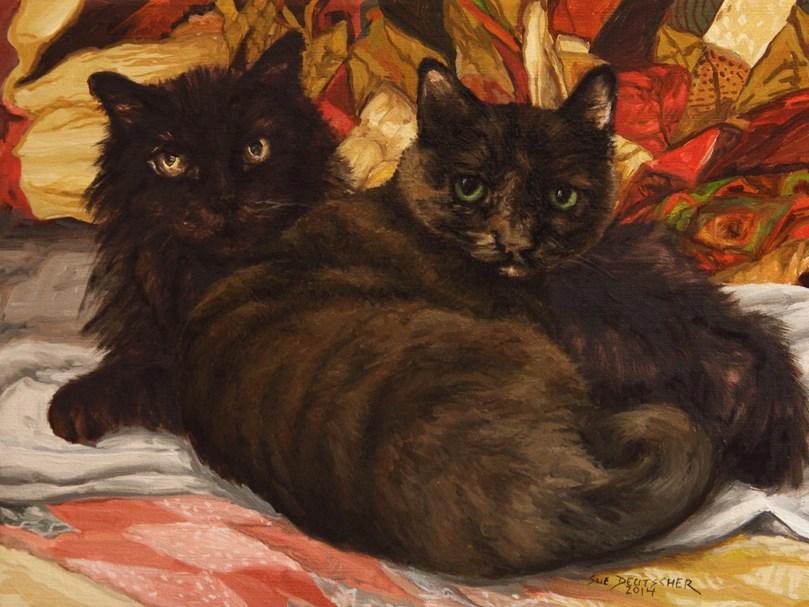 """""""Callie and Mandy"""" original fine art by Sue Deutscher"""