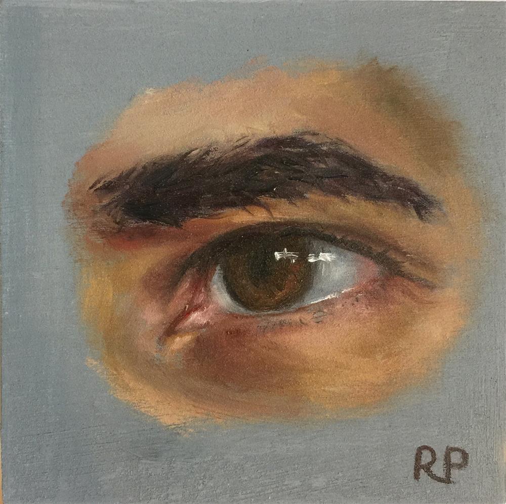 """Eye Study 1"" original fine art by Rhea  Groepper Pettit"