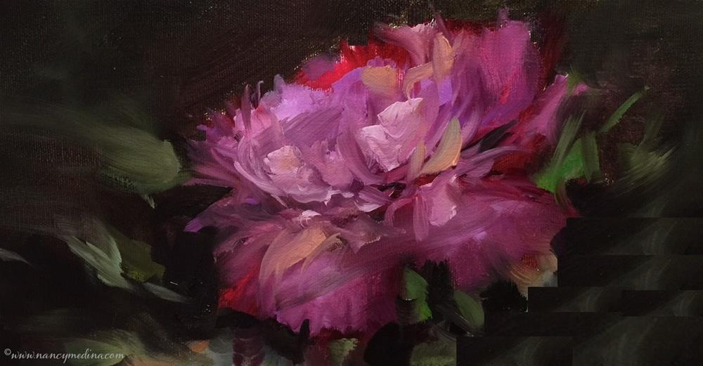 """Soul Shine Peony - Nancy Medina Art Classes and Videos"" original fine art by Nancy Medina"