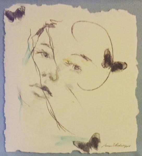 """""""SOLD - 3 BUTTERFLIES by Susan Roden"""" original fine art by Susan Roden"""