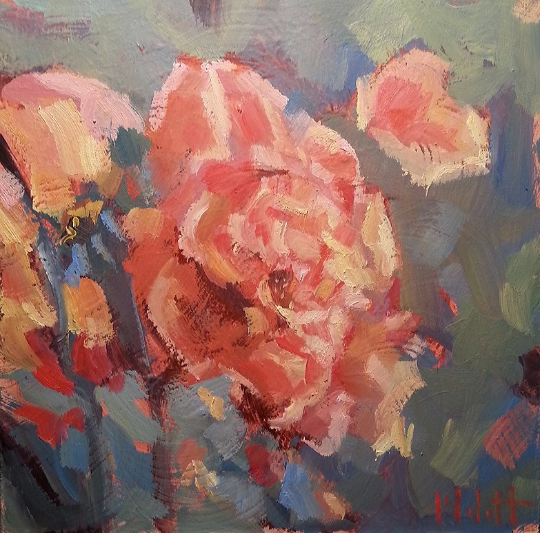 """September Rose Garden Original Daily Oil Painting Impressionism"" original fine art by Heidi Malott"