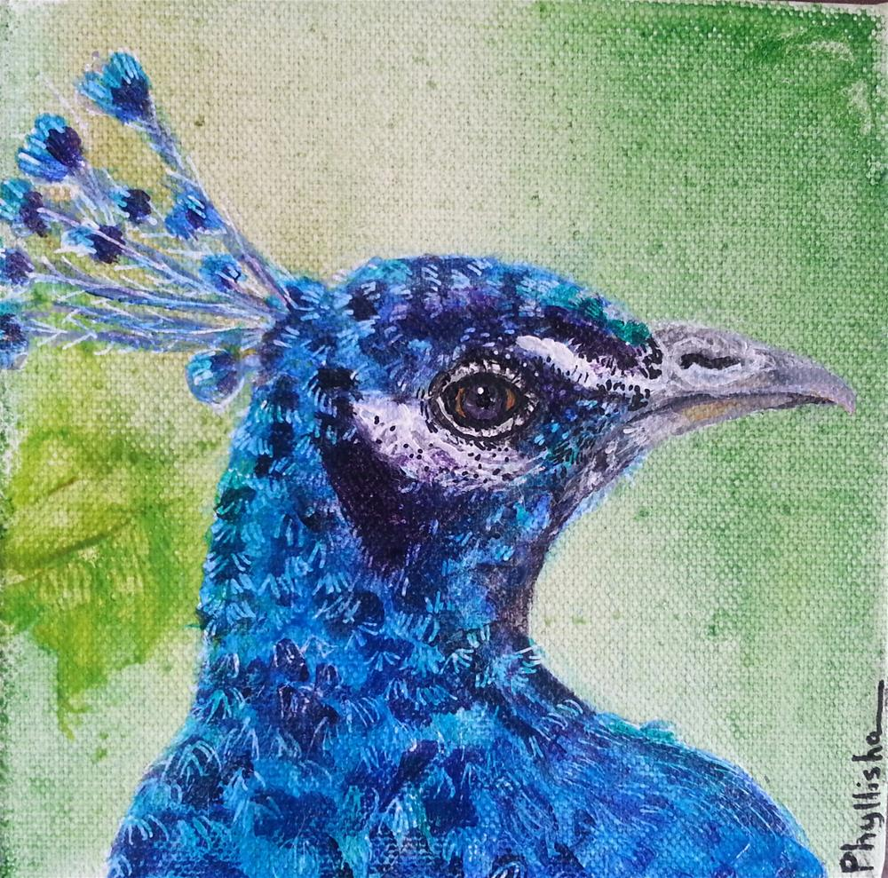 """Happy in Blue"" original fine art by Phyllisha Hamrick"