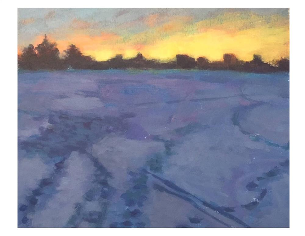 """Purple Snow At Dusk"" original fine art by Suzanne Woodward"