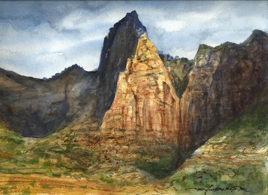 """Kolob Shadows"" original fine art by Rafael DeSoto Jr."