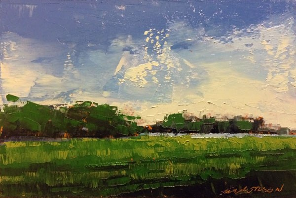 """Minervaville, Deep Summer's Green"" original fine art by Mary Gilkerson"