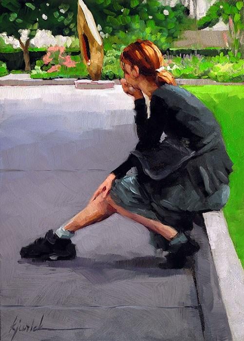 """How Thoughtful"" original fine art by Karin Jurick"