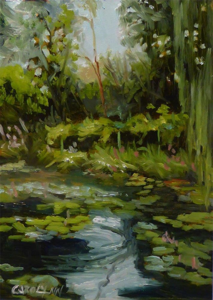 """Pond At Giverny"" original fine art by Carolynn Doan"