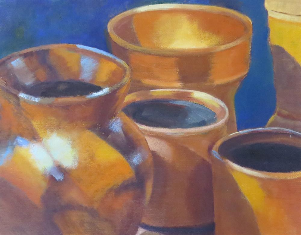 """Terra Cotta Pottery"" original fine art by Pam Holnback"