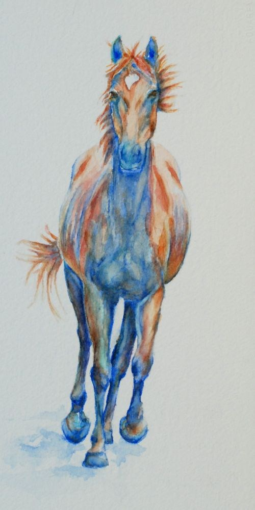 """Maggie the Thoroughbred"" original fine art by Vicki Wood"