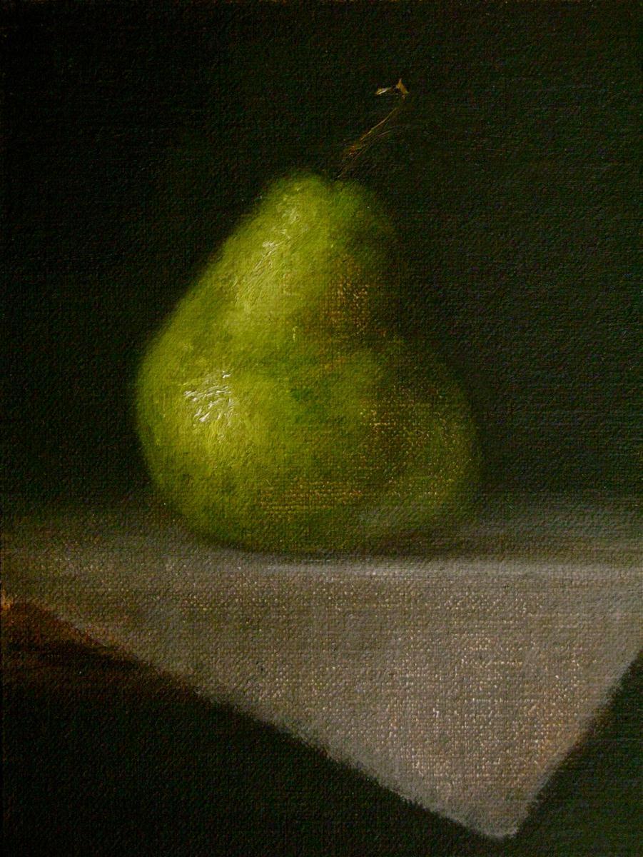 """Packham Pear"" original fine art by MeeLi Lee"