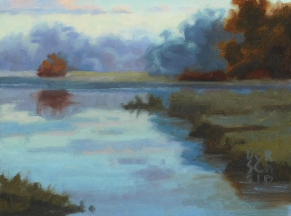 """Study for Morning Reflection 1"" original fine art by Les Dorscheid"