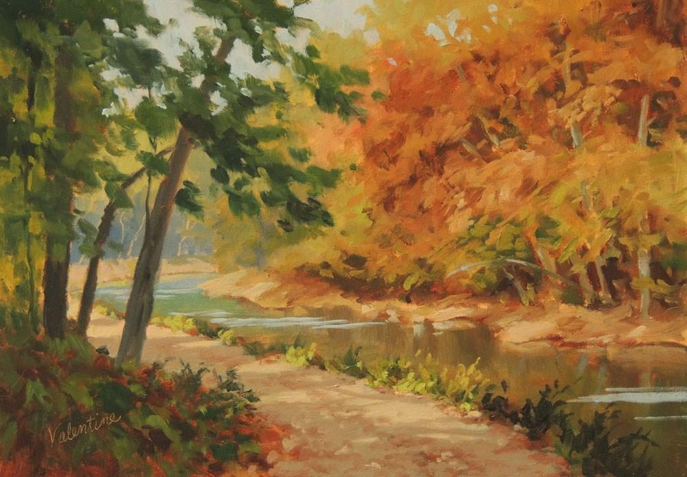"""Dappled Light"" original fine art by Barbara Valentine"