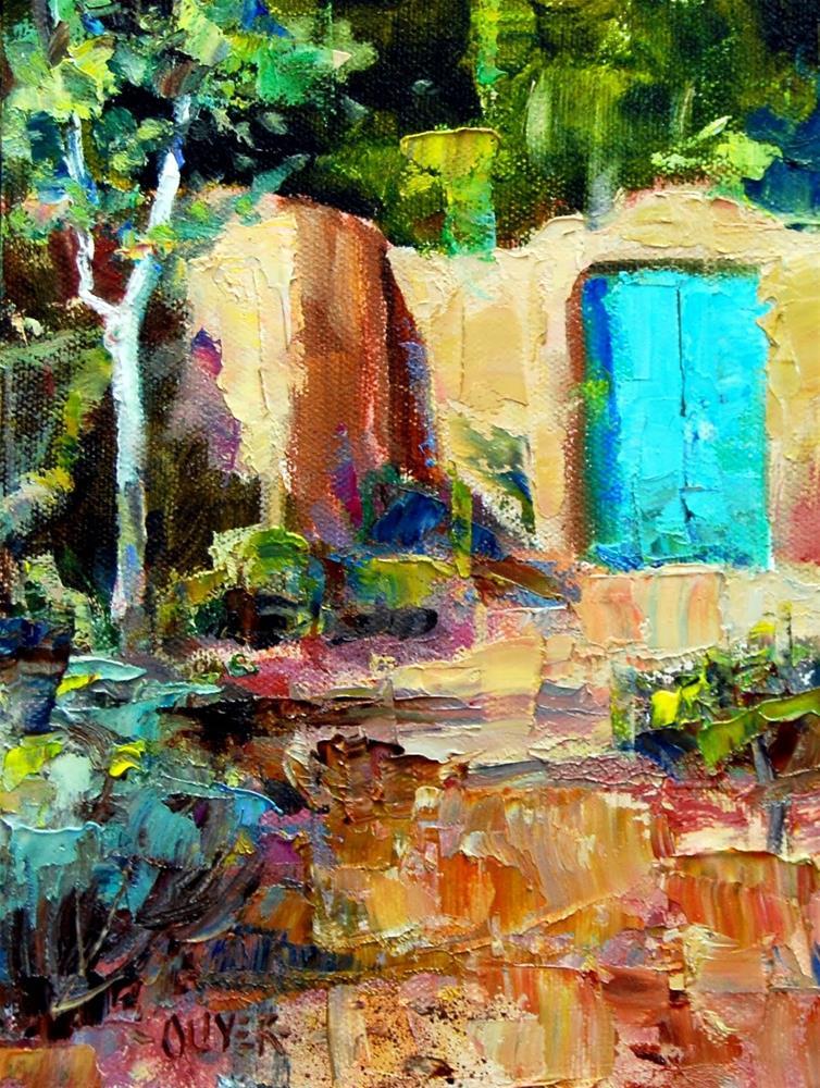 """""""The Blue Gate"""" original fine art by Julie Ford Oliver"""