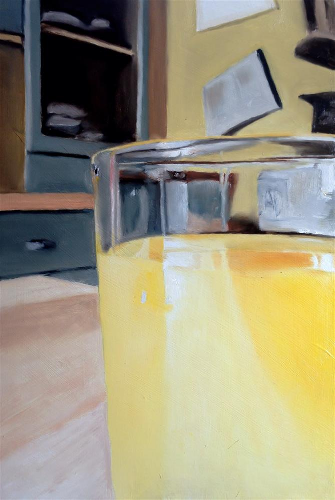 """Orange Juice"" original fine art by James Coates"