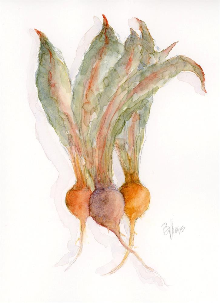 """""""Beets Study  II"""" original fine art by Susanne Billings"""