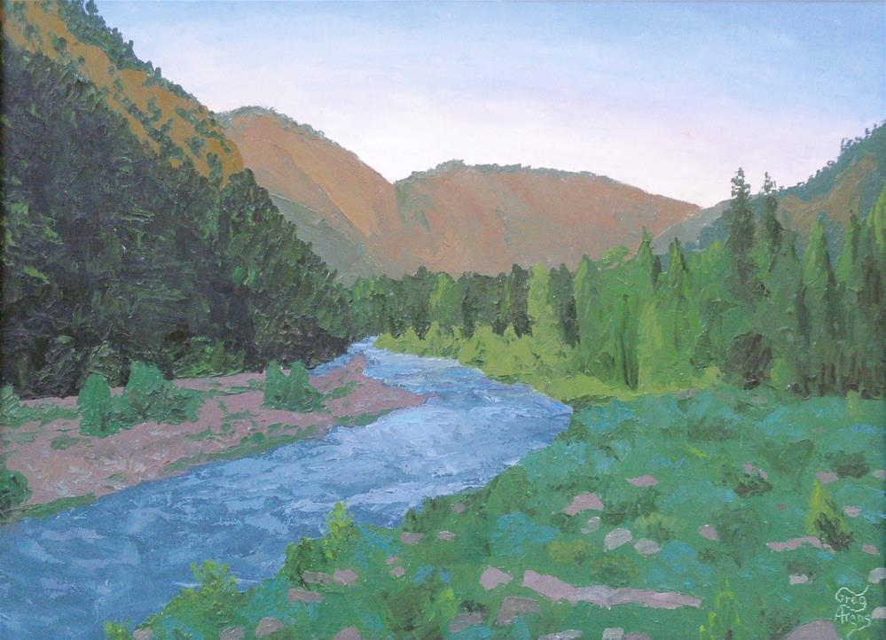 """North Fork Teton River IV"" original fine art by Greg Arens"