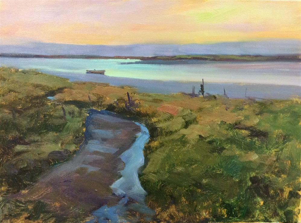 """Medway Marsh"" original fine art by John Shave"
