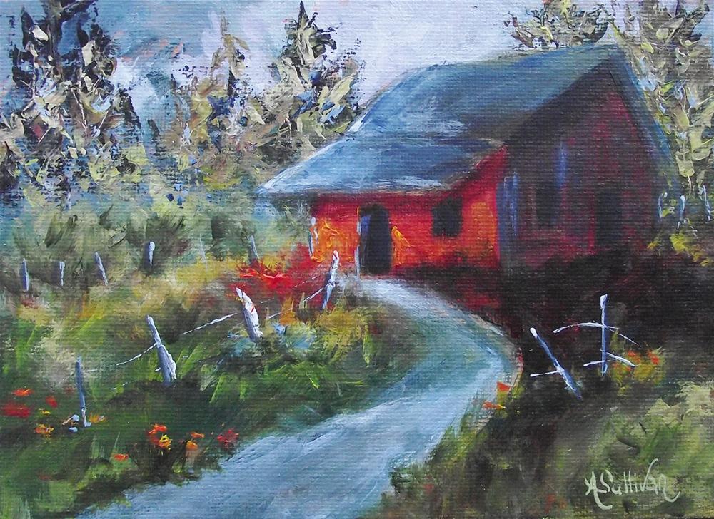 """Shallow Mountain Stream"" original fine art by Angela Sullivan"