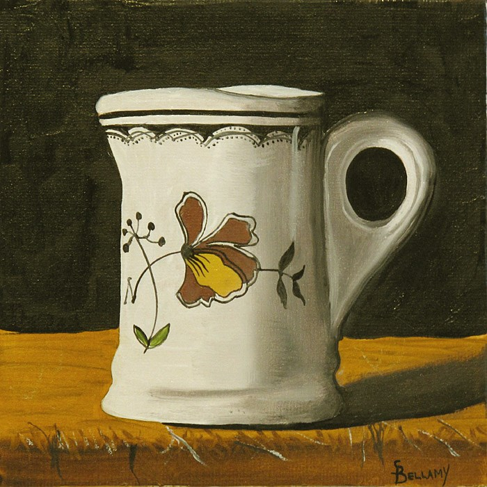 """Tiny Restaurant-Ware Creamer"" original fine art by Sherry Bellamy"