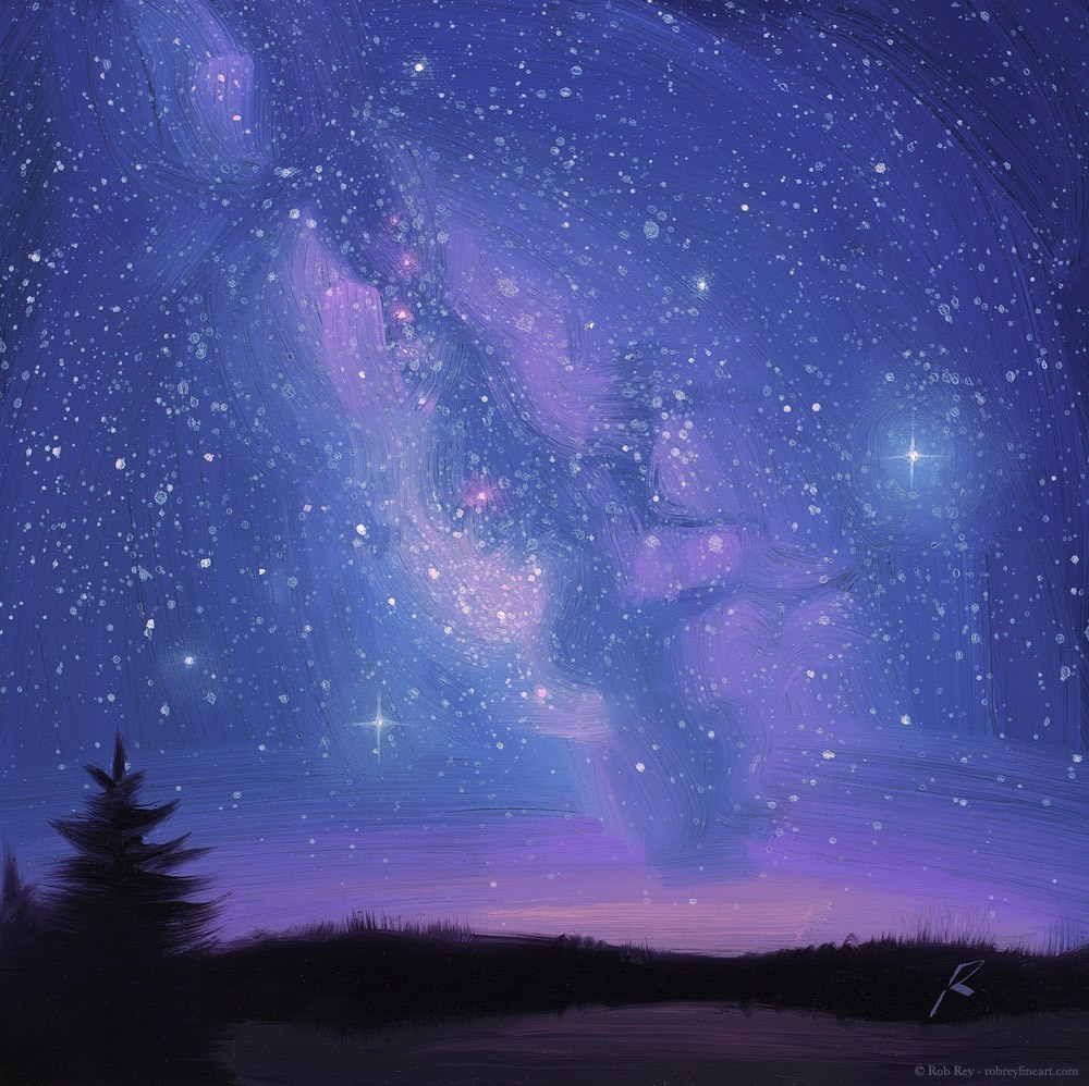 """Milky Way"" original fine art by Rob  Rey"