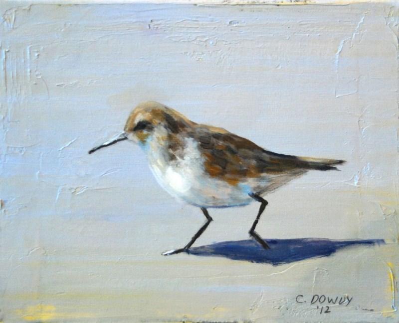 """""""Sandpiper"""" original fine art by Christina Dowdy"""