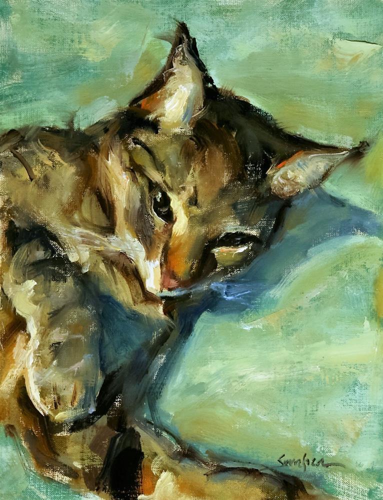 """""""Neko Awakened"""" original fine art by Scott Serafica"""