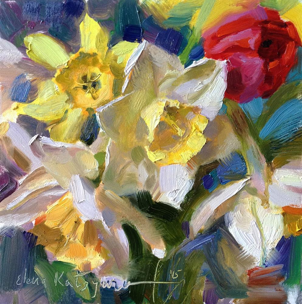 """Flower Chorus"" original fine art by Elena Katsyura"