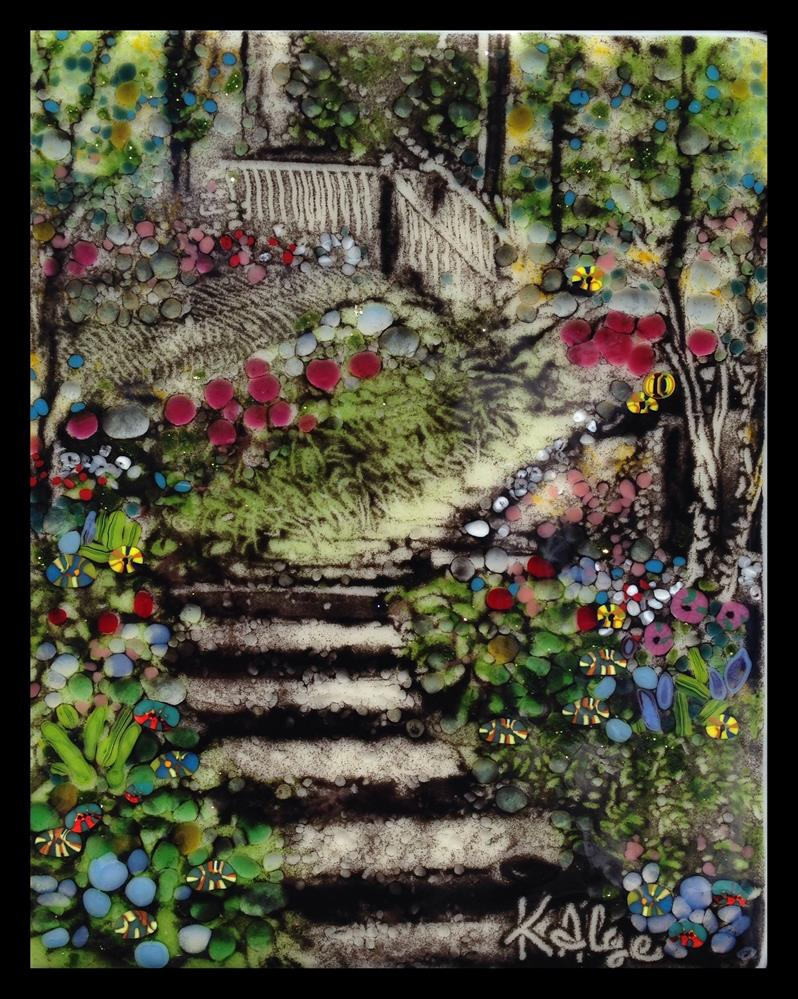 """Japan Garden, Stairs"" original fine art by Kelly Alge"