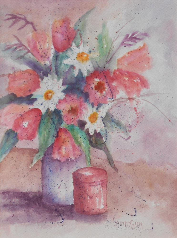 """Spring Flowers"" original fine art by Bev Simonson"