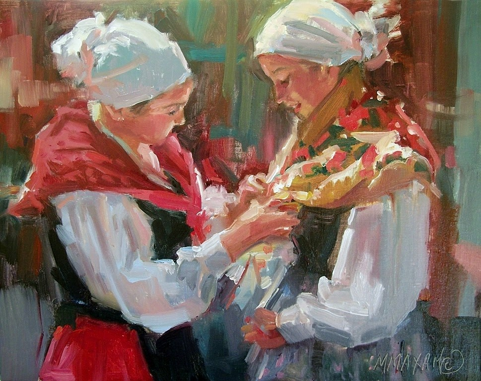 """Preparing To Dance II"" original fine art by Mary Maxam"