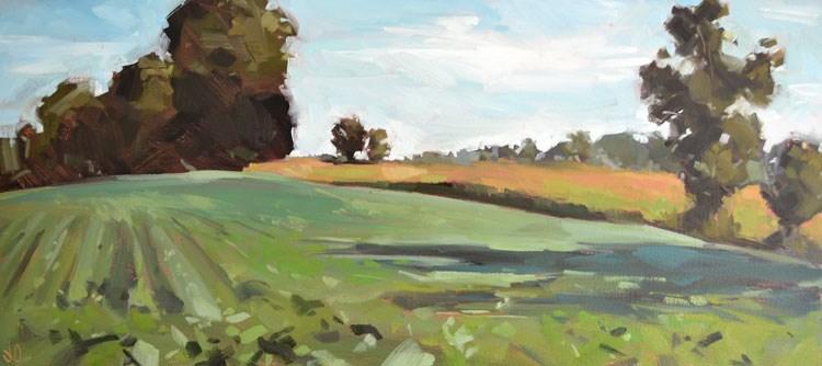 """""""Summer Greens"""" original fine art by Jessica Green"""