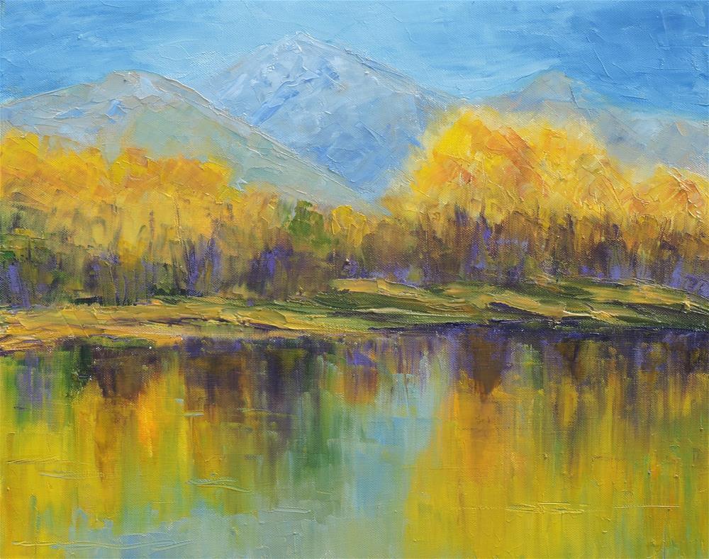"""Autumn in the Rockies"" original fine art by Linda mooney"