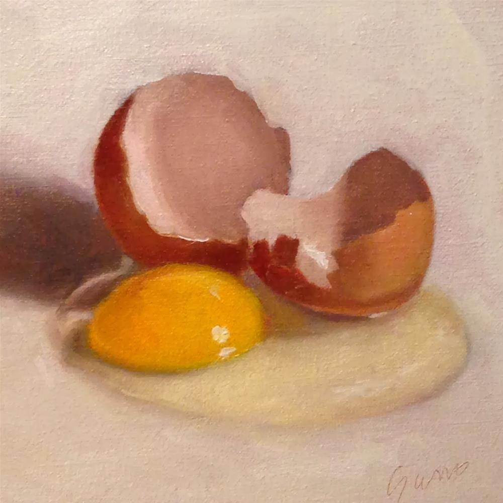 """""""Cracked Egg"""" original fine art by Michelle Garro"""