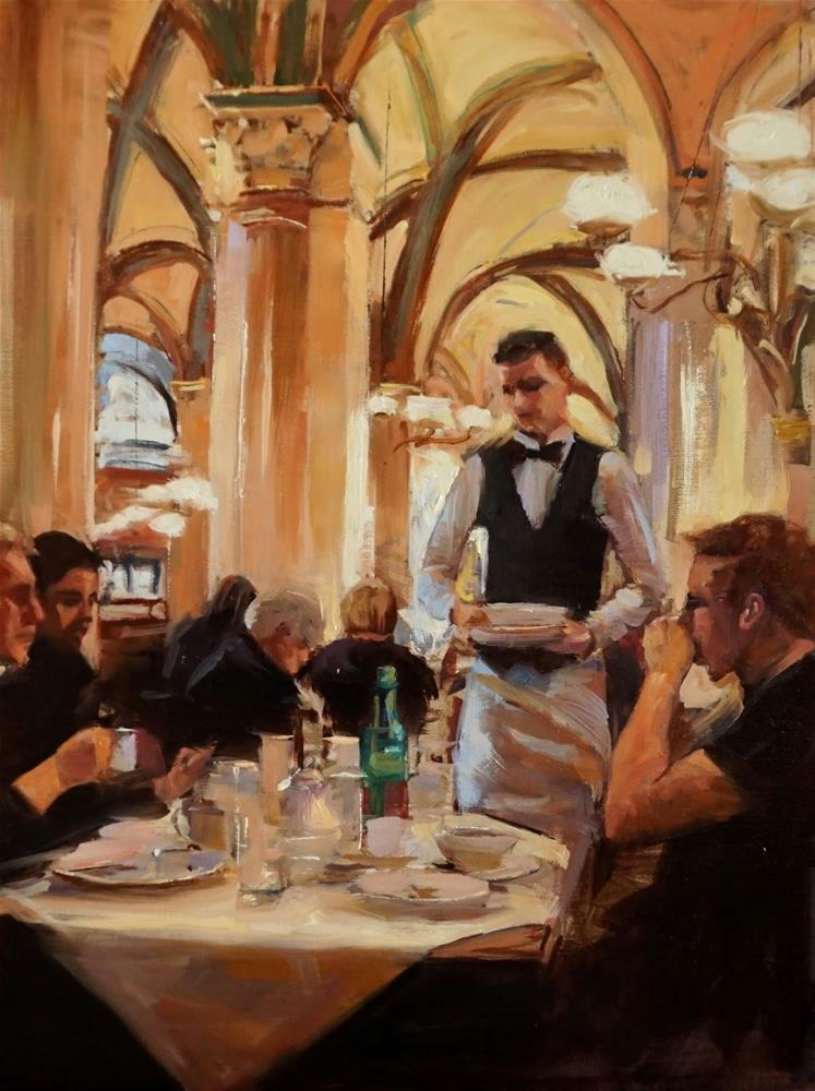 """Brunch at Cafe Central"" original fine art by Jonelle Summerfield"