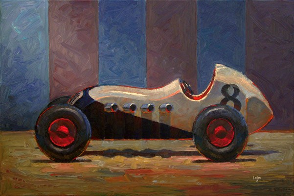 Toy Roadster White (the Larger) original fine art by Raymond Logan