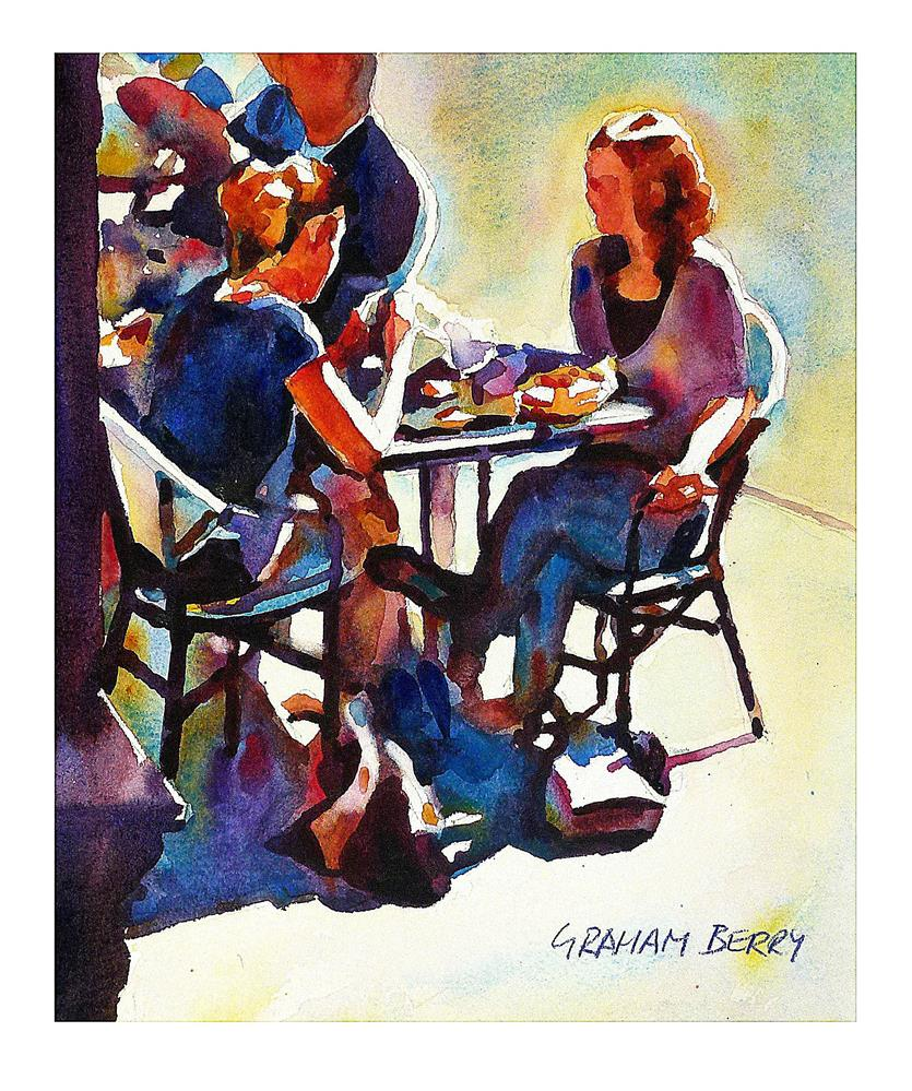 """Corner table."" original fine art by Graham Berry"